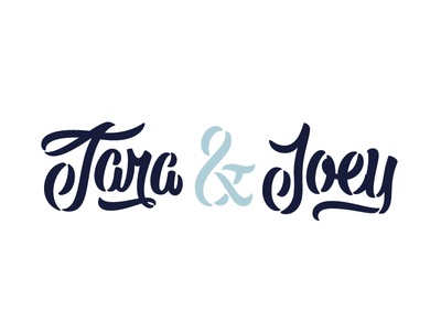 It's a Carty Party branding wedding invites handlettering hand-lettering wedding