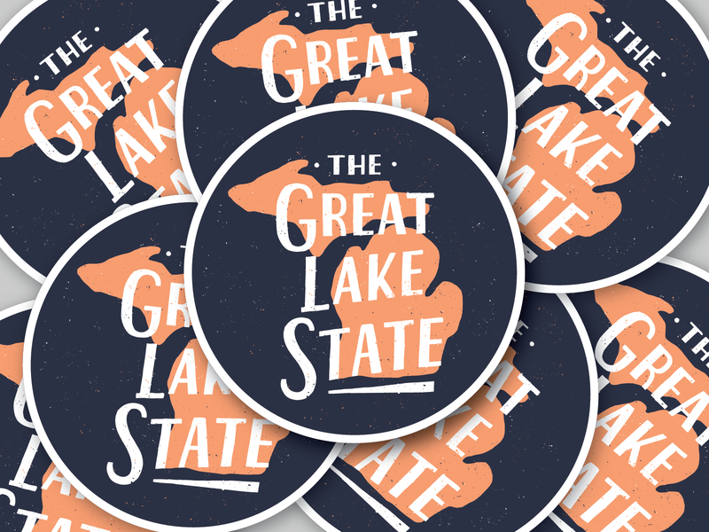 The Great Lake State handlettered typography michigan handlettering