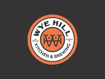 Wye Hill - Monogram Badge coaster logomark monogram badge logo