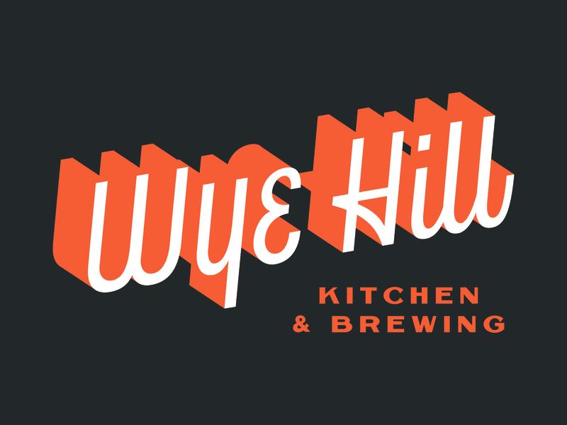 Wye Hill - Logotype logotype brand identity letter lettering handlettering logo