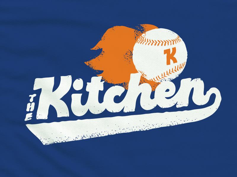 The Kitchen Goes to a Baseball Game baseball bat handlettering script baseball