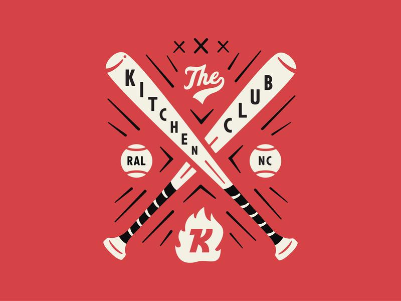 The Kitchen Baseball Club the kitchen raleigh durham bulls baseball illustration