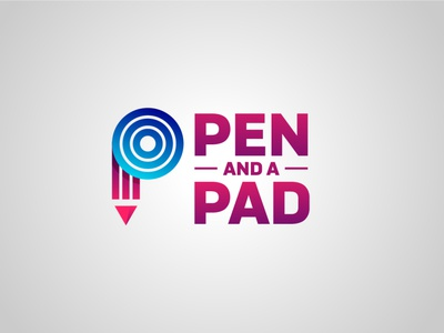 Pen and a Pad 02 typography vector logo illustration icon design web ux app branding