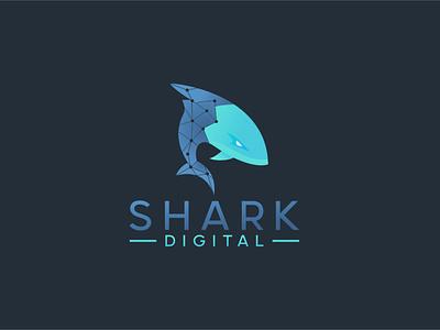 Shark Digital 03 flat art minimal website vector logo illustration icon design app branding