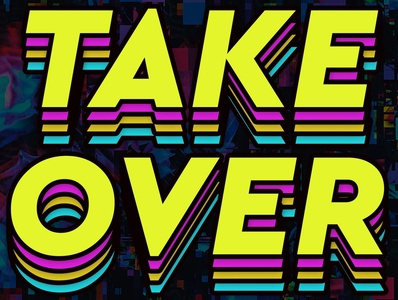 TakeOver adobeillustator graphicdesign fontdesign lettering