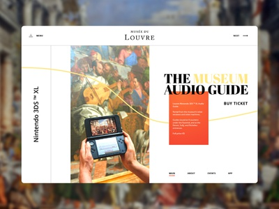 Louvre landing page redesign