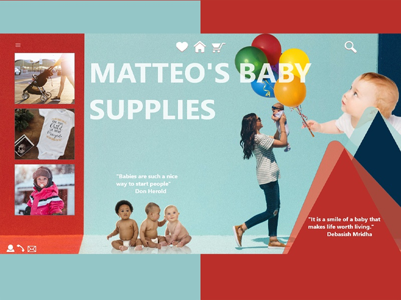 Baby Store Website Homepage