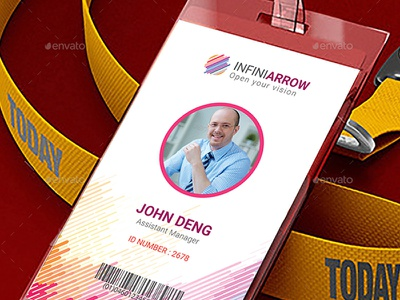 Multipurpose Business ID Card brand identity medical card university id card staff credentials pass membership offices card office name tag mockup job journalist card identity card entry pass employee card
