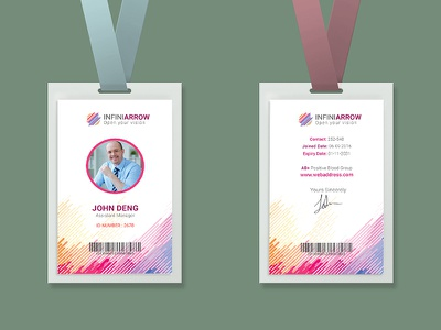 Multipurpose Business ID Card medicalcard universityidcard staffcredentials pass membership officescard office nametag mockup journalistcard job identitycard entrypass employee card brand identity
