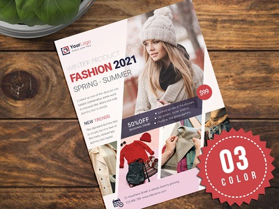 Product Promotion Flyer / Ads dress flyer discount covid 19 clothing flyer clothing buys big sale price offer trends spring fashion products summer winter