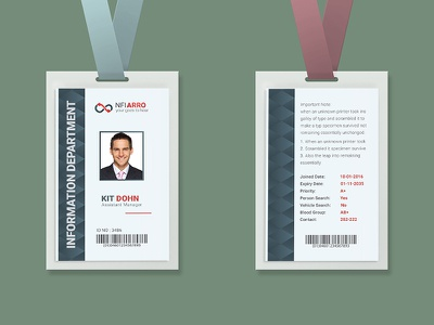 Corporate Executive ID Card company university id card staff credentials service school pass outdoor offices card journalist card job identity card identification id badge id event pass entry pass employee