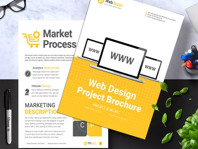 Web Design Brochure behance documents graphicdesign mockup website webdesign layoutdesign brochurelayout yellow websitebrochure webdesignagency web proposal promotion pricingpackages magazine digitalbrochure company brochuretemplate brochure