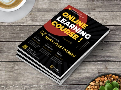 Online Learning Course Class Flyer tuition teaching social media seminar school scholar professor private online live learning instagram flyer education covid 19 course conference community college class