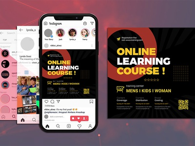 Tutoring Services Flyer & Social Media Post Templates layout flyer education covid19 conference online teaching private course online learning seminar socialmedia teaching tuition
