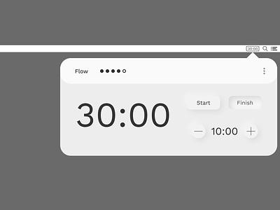 Flow.app + Soft UI pomodoro design ui design macos time management