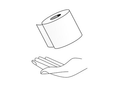 Toilet Paper practice hand toilet paper figma illustration