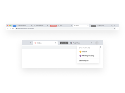 Chrome Tabs Management Concept - Unsorted and Template figma tabs management chrome design ui design ux design
