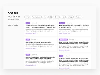 Company Info Aggregating Platform Concept figma webapp salespeople app design ui design ux design