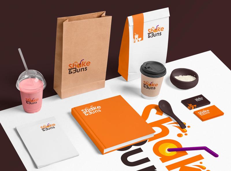 Shake & Buns - Packaging & Stationery