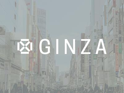 Ginza, Japan logo design concept logo design ginza tokyo japan branding identity travel logo icon graphic design design vector illustration