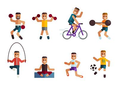 The Fittest Cities in Metro Manila fit health metro manila exercise vector illustration