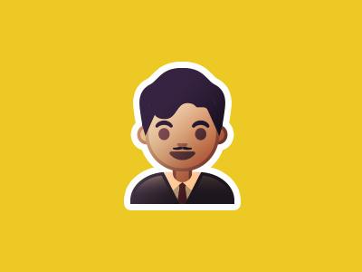 Philippine Emoji - José Rizal illustration vector android hero jose rizal philippine emoji