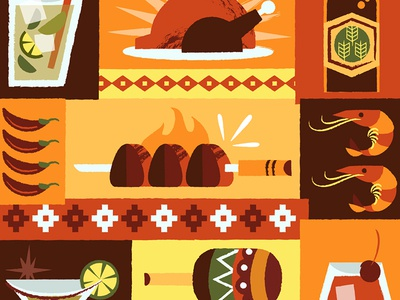 Latin American Food Illustration