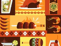 Latin American Food Illustration