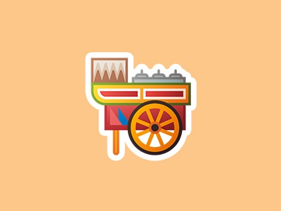 Philippine Emoji - Sorbetes/Ice Cream philippines ice cream emoji travel icon food drawing design vector illustration