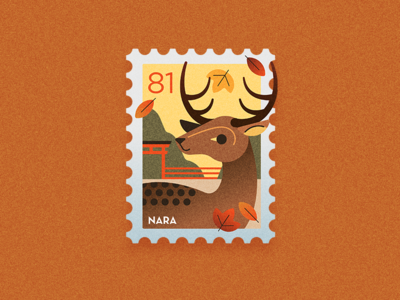 Travel Stamp - Autumn in Japan
