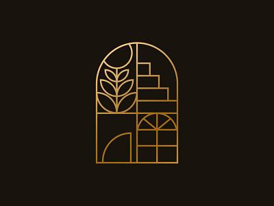 Interior Logo vector identity graphic design architecture home interior window logo branding design illustration
