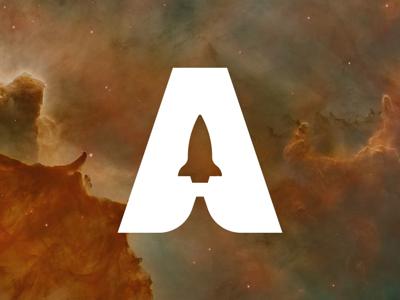 Aerospace #DailyLogoChallenge icon design vector illustration spaceship graphic design a galaxy logo space logo rocket ship aerospace identity logo branding