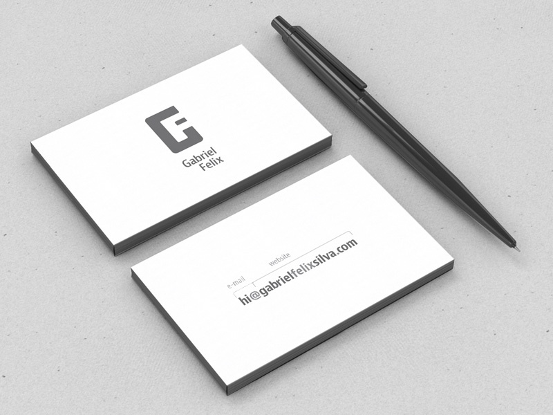 minimal business card by gabriel felix dribbble. Black Bedroom Furniture Sets. Home Design Ideas