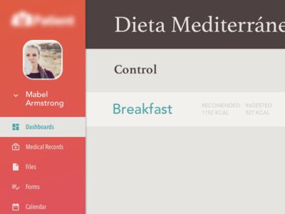 Diet Dashboard