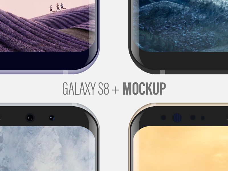 Samsung Galaxy S8 + Mockup Giveaway colors device mobile giveaway mockup s8 galaxy samsung