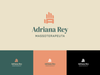 Adriana Rey - Logo tagline logotype monogram masseuse therapy massage logos logo initials icon hand creative branding brand