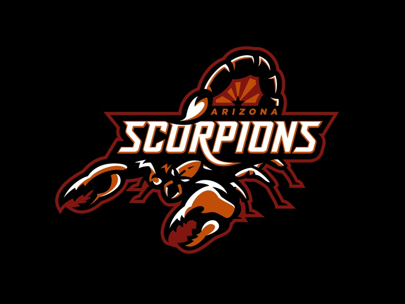 Arizona Scorpions Primary star desert league simulation team mascot logo design sports logo sports esports mascot esports logo esports football scorpions arizona