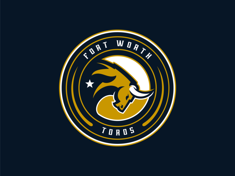 Fort Worth Toros Primary gamer charge toros horns star esports football team logo logo design sports design sports logo fort worth texas mascot bull