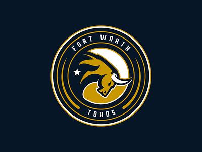 Fort Worth Toros Primary gamer charge toros horns star esports football team logo logo design sports design sports logo fort worth texas mascot bull
