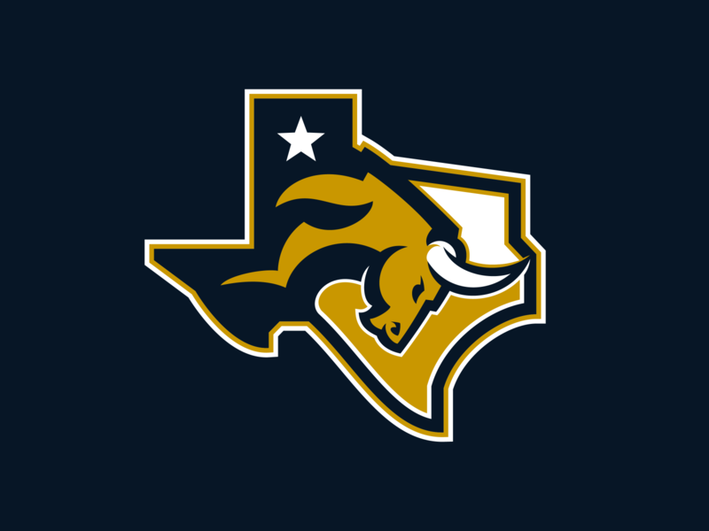 Fort Worth Toros Alternate state bull south mascot texas fort worth sports logo sports design logo design logo team football esports star horns toros charge gamer