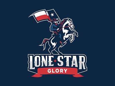 Lone Star Glory Branding Package stallion mustang renegade star flag state texas lone star cowboy horse branding esports sport logo brand design football vector mascot sports logo
