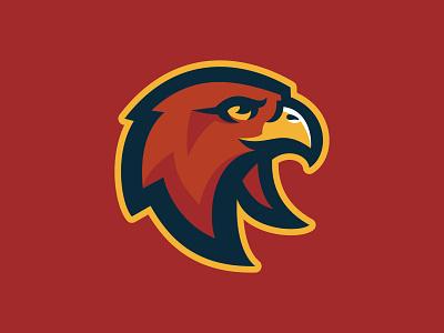 HHDP Hawks animal logo prey bird hawk spring league hockey animal team branding sport logo brand design vector matthew doyle mascot logo sports