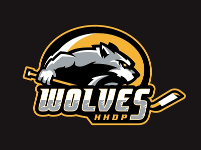 HHDP Wolves pack wolf wolves kids predators spring league hockey animal team branding esports sport logo brand design vector matthew doyle mascot logo sports