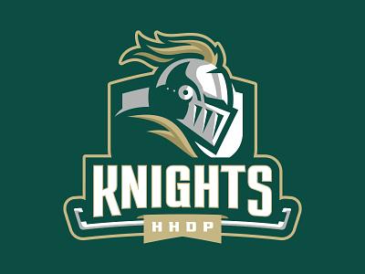 HHDP Knights spring league hockey helmet battle knights warriors team branding sport logo brand design vector matthew doyle mascot logo sports