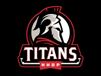 HHDP Titans spring league hockey battle helmet titans warriors team branding sport logo brand design vector matthew doyle mascot logo sports