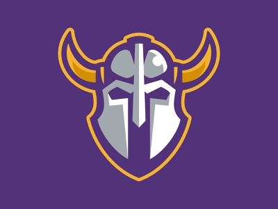 HHDP Vikings spring league hockey helmet battle horn vikings warriors team branding sport logo brand design vector matthew doyle mascot logo sports