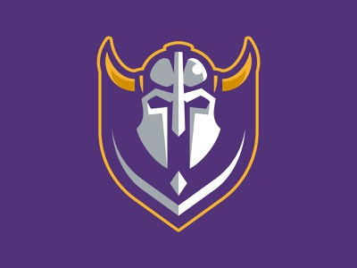 HHDP Vikings league spring hockey helmet battle horns vikings warriors team branding sport logo brand design vector matthew doyle mascot logo sports