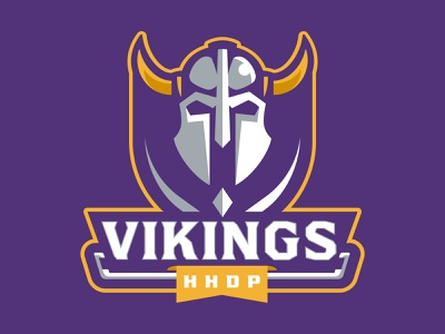 HHDP Vikings spring league hockey battle horn helmet vikings warriors team branding sport logo brand design vector matthew doyle mascot logo sports