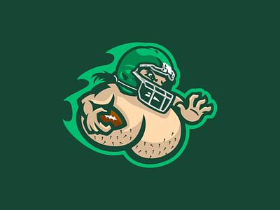Coin Purse League nuts balls teabag league purse coin fantasy branding sport logo football brand design vector matthew doyle mascot logo sports