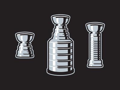 Stanley Cup History illustration sports design sport design vector matthew doyle branding logo sports history evolution playoffs final hockey nhl stanley cup championship champion trophies trophy